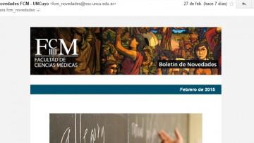 Cómo evitar que el Boletín de Novedades FCM ingrese como SPAM