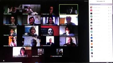 El Consejo Directivo se reunió por videoconferencia para evaluar la factibilidad técnica de sesionar a distancia