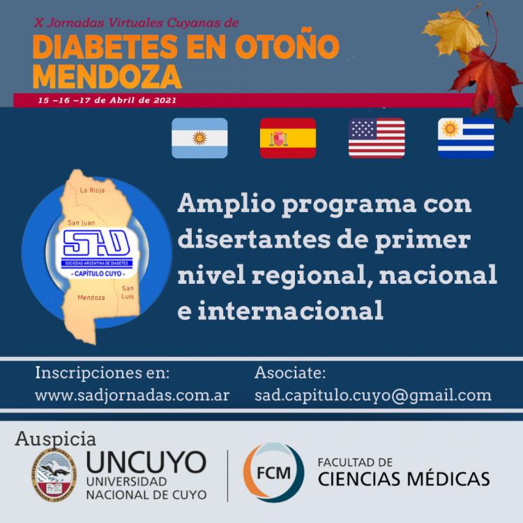 X Jornadas Virtuales Cuyanas de Diabetes en Otoño Mendoza