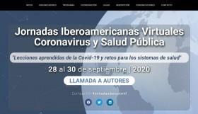 Web Jornadas Iberoamericanas Virtuales Coronavirus y Salud Pública