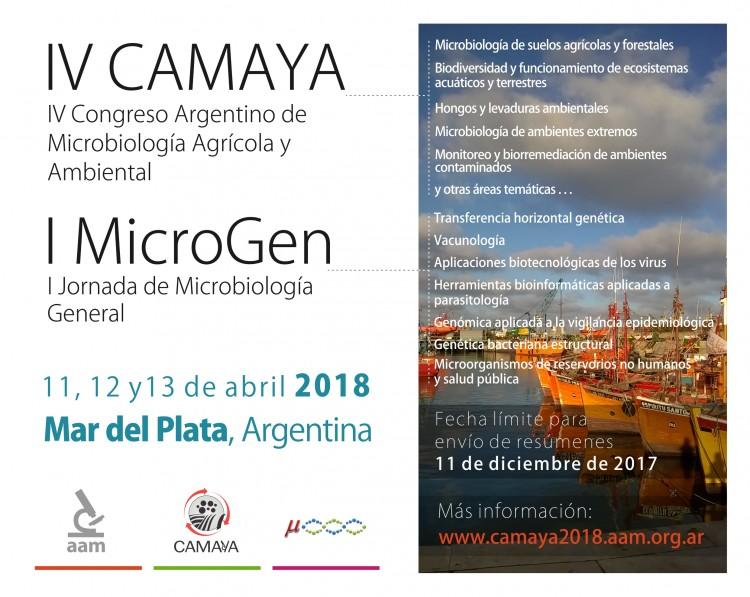 I Jornadas de Microbiología General 2018