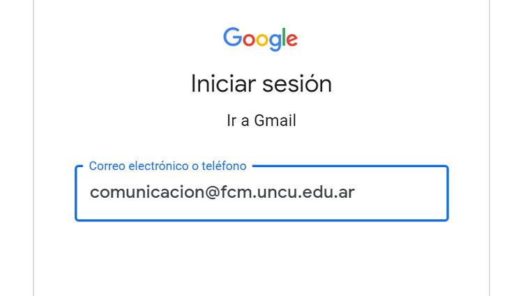Los correos @fcm.uncu.edu.ar funcionan desde hoy bajo el paraguas de Google