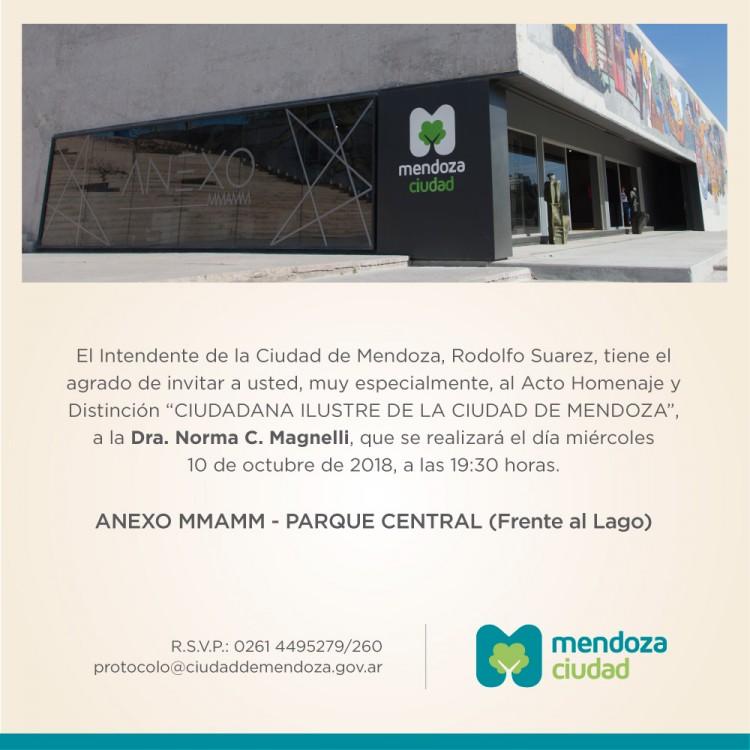 Ciudadana Ilustre de Mendoza
