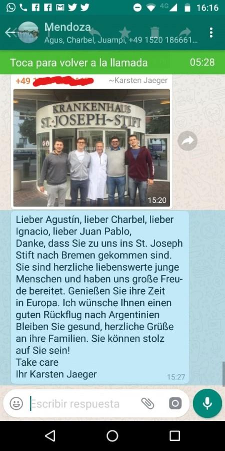 La despedida de Bremen