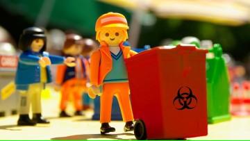Entrega de bolsas y cajas para residuos patológicos, y fechas de retiro de ABRIL