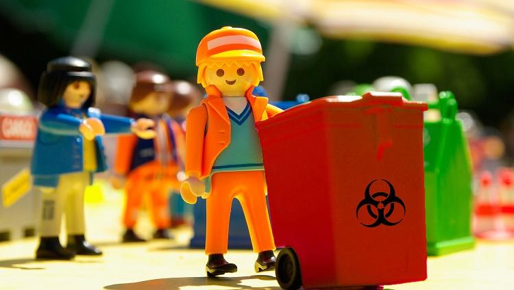 Entrega de bolsas y cajas para residuos patológicos, y fechas de retiro de DICIEMBRE