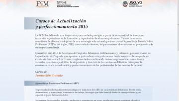 La FCM estrena sitio de información sobre Cursos de Capacitación de Posgrado