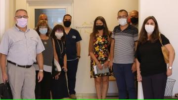 La ministra Nadal se reunió con el equipo de gestión de la FCM y recorrió el vacunatorio, sede del operativo COVID-19